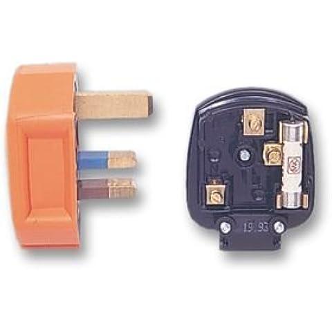 PLUG, 13A, RUBBER, ORANGE PF133ORG Pack Of 5 Di MK (ELECTRIC)