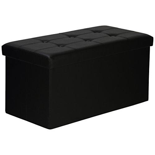Levivo Panca Pieghevole e Imbottita con Box Contenitore, Carico Fino a 300 Kg, Ca. 77 X 38 X 38 cm