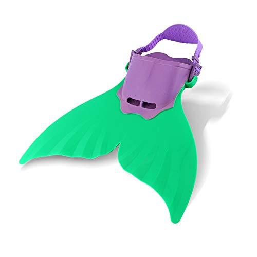 AYUE® Niños Niñas Sirena Juguete Natación Natación Piscina Aletas,Green