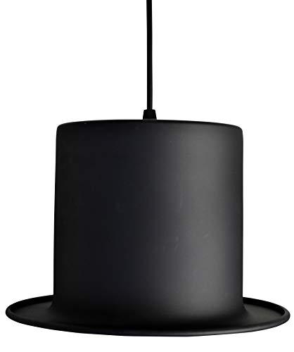 Top Hat Hanging Lamp - Black Goldcolour foil