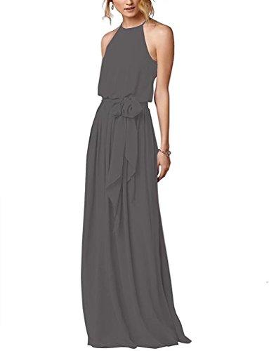 Elegant Abendkleider Lange Hoher Hals Ball Abiball Abschlussball Brautjungfern Kleider 124