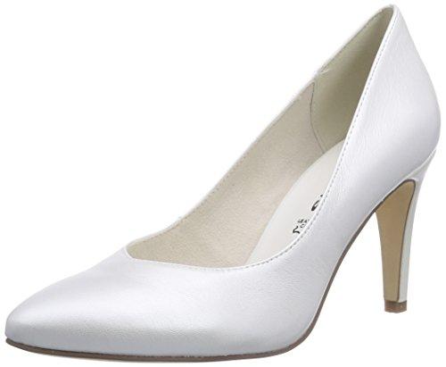 Tamaris 22429, Chaussures à talons - Avant du pieds couvert femme Blanc - Weiß (Champagne 112)