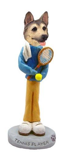 Deutsch Shepherd Tan / Schwarz Tennis-Spieler Doogie Collect Figurine -
