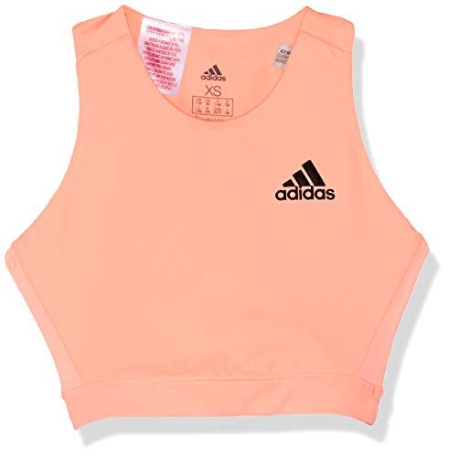 adidas Mädchen Training Brand Sport BH Mit Leichter Unterstützung, Clear Orange/Black, 164