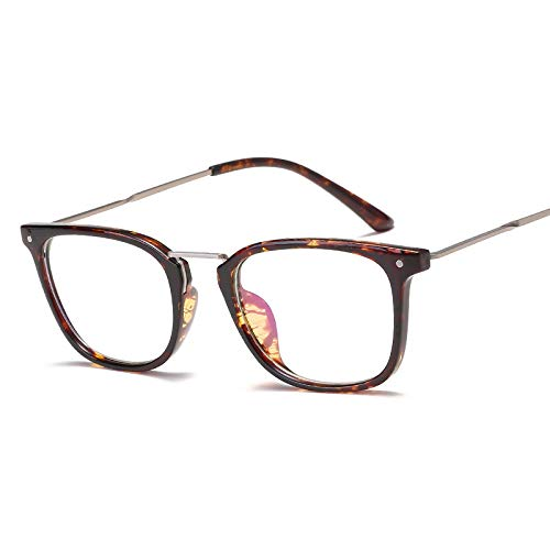 YMTP Ultra-Light Optical Frame Männer Rechteck Mode Brillen Frauen Vintage Brillengestell, Amber