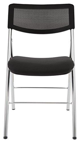 ALBA cpdiva N Klappstuhl Stoff/Stahl Chrom schwarz 48x 53x 83cm - Großhandel Esszimmer Stühle