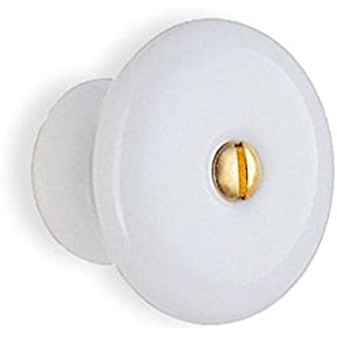 Smedbo perillas de porcelana con latón tornillo Art, B319/2