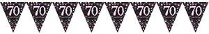 Amscan International-99017404m x 20cm rosa celebración 70plástico banderín banderines
