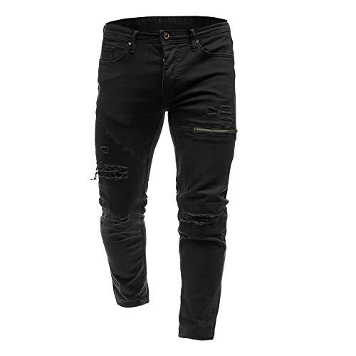 Zolimx Jeanshosen Herren Skinny Denim Stylish Zipper Jeans Casual Denim-Slim Strech Fit Hosen -