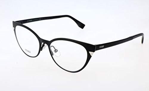 Fendi Damen FF 0126 003/17-51-17-140 Brillengestelle, Schwarz, 51
