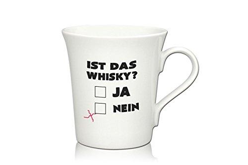 Lustige Porzellantasse Kaffeetasse Emilia Weiss 34cl - Dekor: IST Das Whisky?