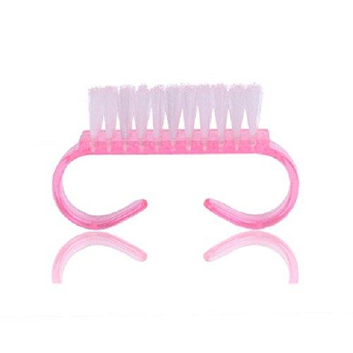 Huertuer 3Creative Kunststoff Nagel Bürste Hand Schrubben Reinigungsbürste Nagel Staub Bürste (Pink) - Kunststoff-nagel-bürste