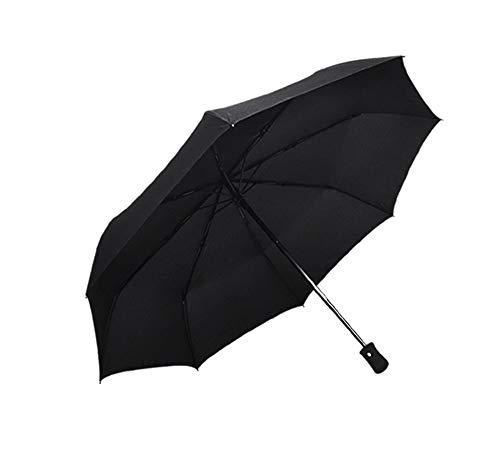 Falten Drei-tasten-anzug (Screenes Einfache Schwarze Reise Regenschirm Mann Ms Anti Uvsonnenschirm DREI Falten Einfacher Stil Regenschirm Leichtgewichtler Kompaktes Einfach Zu Wasserdicht Regenschirme)