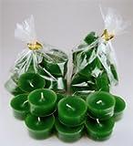 Dänische Teelichter im transparenten Plastikbecher, 20er-Beutel, grün RAL