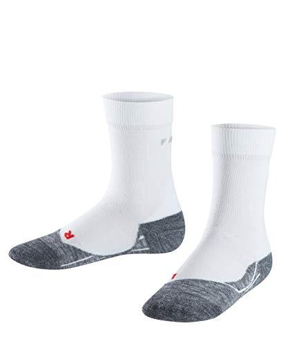 FALKE RU4 Kinder Runningsocken - 1 Paar - Baumwolle-Mix, Laufsocken mit mittelstarker Polsterung, Gr. 35-38, blau, Sportsocken Jungen Mädchen