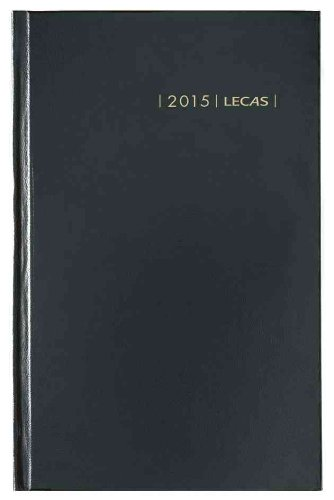 lecas Calendar Diary 1 Day to a Page Year 2018 14 x 22 cm Black