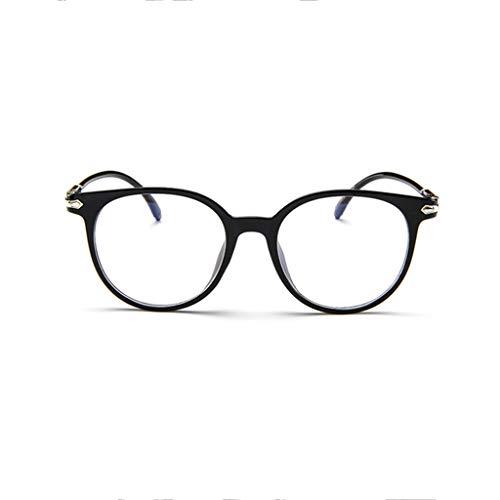 KItipeng Unisex Vintage Brillen Runde Brille Retro Klare Linse Brille Unisex Geleefarbe Ultraleicht Rahmen Ebenenspiegel