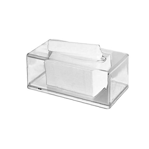 Gamloious barniz acrílico caja de pañuelos Rectangular servilletas de Papel de oficina celebración tapa de la caja del vehículo