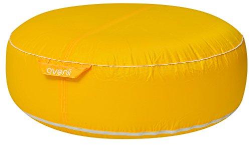 Avenli Pouf I Sitzkissen Ø 98 x 38 cm Outdoor & Indoor Hocker Gartenhocker Sitzkissen Sitzsack robust aufblasbar gewebeverstärkter Bezug wasserfest wetter- UV- und schimmelbeständig