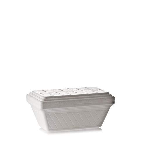 Poloplast 20 vaschette per gelato isotermiche in polistirolo espanso 750 cc