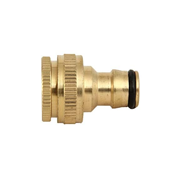 Divine Tree Brass Dual Universal Tap Connector for Threaded Tap 1/2 and 3/4 inch Pipe Adaptor Garden Water Hose Quick Connector for Garden Hose Pipe Fitting