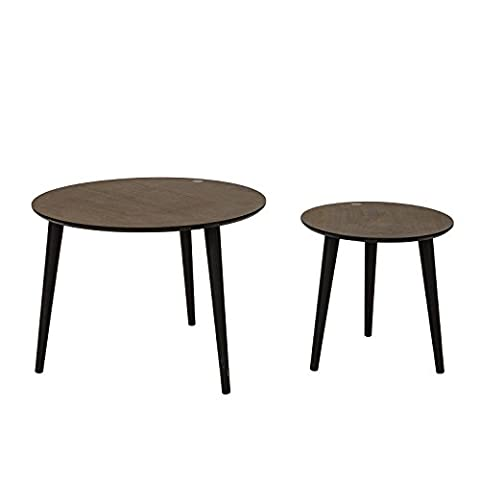 Table De Nuit Ronde - SoBuy® FBT40-BR Set de 2 - Tables