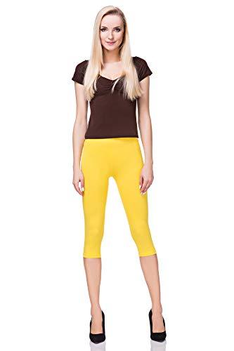 Leggings amarillos piratas de algodón