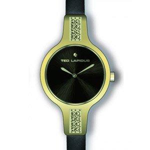 Ted Lapidus - A0587PNPN - Montre Femme - Quartz Analogique - Cadran - Bracelet Cuir Noir
