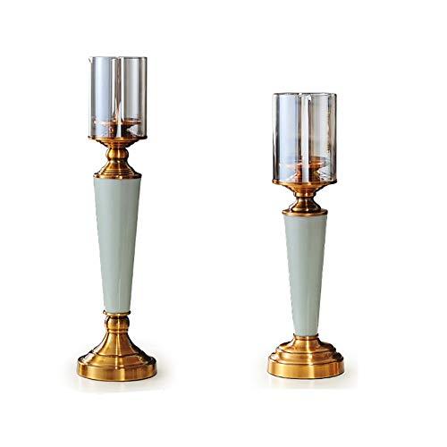 Chandeliers Bougeoir Bougeoir de bougeoir de 2 PCs, support en céramique de chandelle pour la table à la maison/anniversaire de mariage
