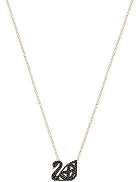 Swarovski Damen - Halskette & Anhänger Kette Messing Rund Kristall