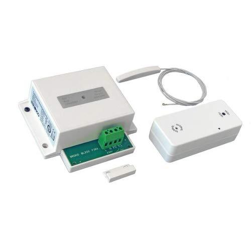 Funk - Abluft - Sicherheitsschalter BL220Fi(SG) mit Außenantenne für den Einbau / Funk Sicherheits Abluftsteuerung DIBt geprüft / Fensterschalter Wireless / Fensterkontaktschalter / BROKO