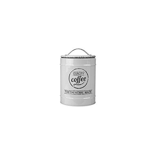 S.Ariba | 101936 | XL Kaffeedose Vorrats-Dosen aus Metall 11x17 cm in Altweiß