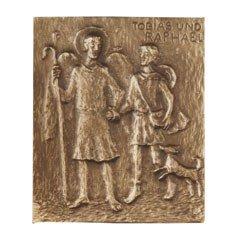 Bronze - Namensplakette Tobias und Raphael Grösse: 13 x 10 (Kostüme Tobias)