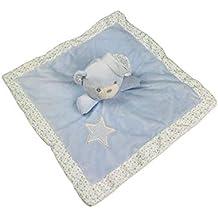 Manta de terciopelo para bebé con oso de peluche, manta de seguridad supersuave para niño