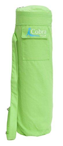 Cobra Yogamatten-Tasche mit Außentasche und Schultertragegurt - Passend auch für große Handtücher - Grün