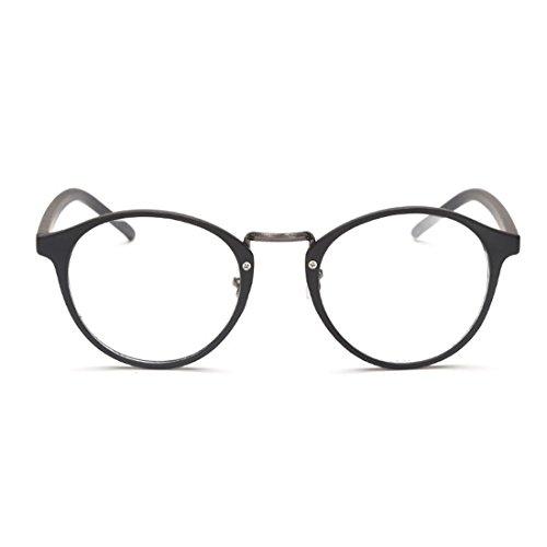 IOSHAPO Mann Frau Retro Brille Mode Myopie Brille Runde Rahmen Gläser-1,00 bis-6,00