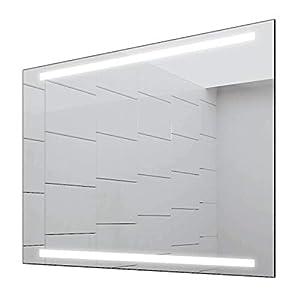 Concept2u® Badspiegel Enjoy Badezimmerspiegel mit 4.000K neutralweißer Beleuchtung 45 cm Breit x 60 cm Hoch Licht Oben+UNTEN