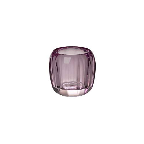 Villeroy & Boch Coloured DeLight Kleiner Teelichthalter Noble Rose, 7 cm, Kristallglas, Klar/Pink
