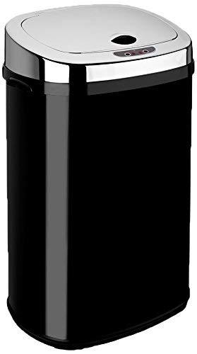 Dihl Abfalleimer mit automatischem Deckel, rechteckig, 30l, Schwarz