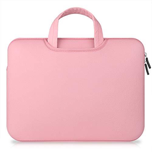 TechCode 15,4 Zoll Laptoptasche, 15-15,4 Zoll Hülle Laptop Tasche Multifunktions Notebook Computer Taschen Aktenkoffer tragende schützende Tasche/Beutel Haut für 15'' 2018/2017/2016 MacBook(Rosa) 15 4 Notebooks