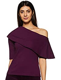 dee8acacfbd29 Miss Chase Womens Magenta One Shoulder Layered Top