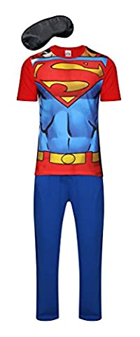 i-Smalls Herren Super Hero Comic Schlafanzug Kollektion (Superman) L