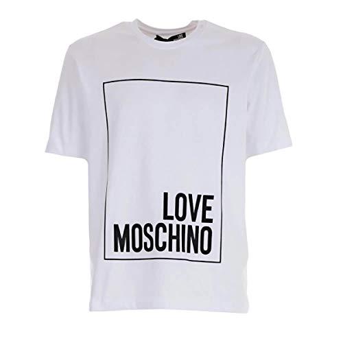 Moschino love t-shirt logo white gommato