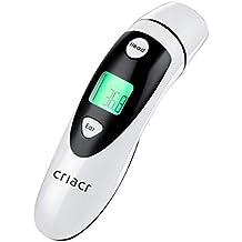Criacr Termómetro infrarrojo de cuerpo dual para el oído y la frente, termómetro para bebés