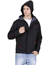 Forest Club   Water Resistant   Reversible   Light Weight   Jacket for Men with Hood   (Slim FIT)
