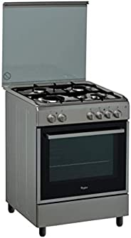 Whirlpool 60 X 60 cm 4 Gas burners Free Standing Gas Cooker, Grey - ACMK6110/IX, 1 Year Warranty