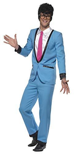 Smiffys, Herren Teddy Boy Kostüm, Hose, Jackett mit Mock Hemd und Krawatte, Größe: M, 39963 (Kostüme 50er Herren Jahre Ideen)