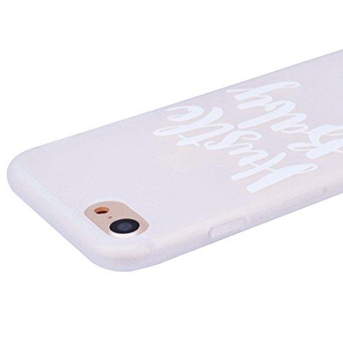 HB-Int für iPhone 7 Plus Weich Silikon Hülle Licht Durchlässig Transparent Ultra Dünn Schutzhülle Einhorn Stern Flexible Full Body Case Bumper Shell Handytasche Baby