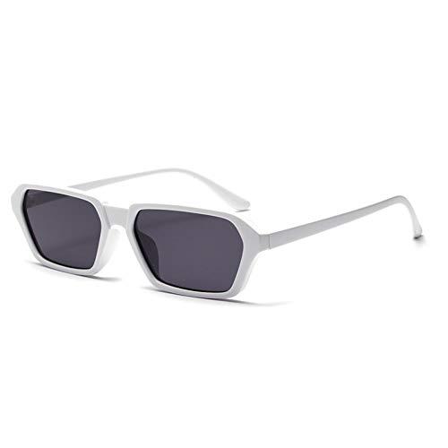 ZRTYJ Sonnenbrille Vintage Rechteck Sonnenbrille Herren Retro Damen Sonnenbrille Mode Schmale Brille Schwarz Lentes De Sol Hombre
