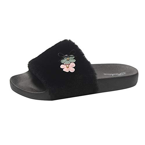 Hausschuhe Damen Winter Wärme Plüsch Flache Stiefel DOLDOA Pantoffeln Slipper